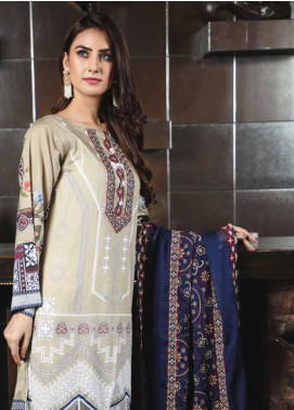 Peridot Embroidered Lawn Unstitched 3 Piece Suit PD19F 3A - Festive Collection