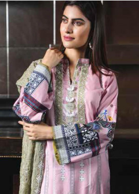 Peridot Embroidered Lawn Unstitched 3 Piece Suit PD19F 3B - Festive Collection