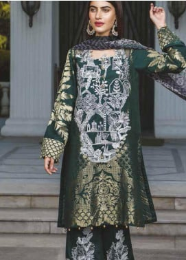 Peridot Embroidered Lawn Unstitched 3 Piece Suit PD19F 5B - Festive Collection