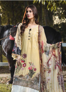 Peridot Embroidered Lawn Unstitched 3 Piece Suit PD19F 6A - Festive Collection