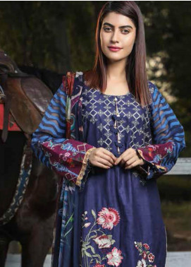 Peridot Embroidered Lawn Unstitched 3 Piece Suit PD19F 6B - Festive Collection