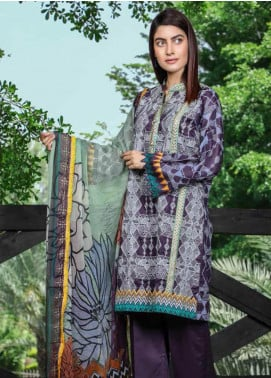 Peridot Embroidered Lawn Unstitched 3 Piece Suit PD19F 8B - Festive Collection