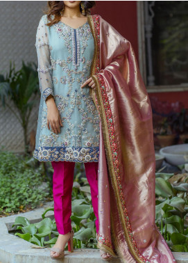 Fayon Embroidered Organza Stitched 3 Piece Suit FN-P108 Aurelia