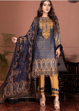 Phulkari by Mohagni Embroidered Jacquard Unstitched 3 Piece Suit MO20PH 02 - Formal Collection