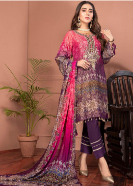 Phulkari by Mohagni Embroidered Jacquard Unstitched 3 Piece Suit MO20PH 05 - Formal Collection