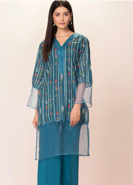 Phulkari by Taana Baana Printed Lawn Unstitched Kurties TB20EF 1416BDT - Eid Collection