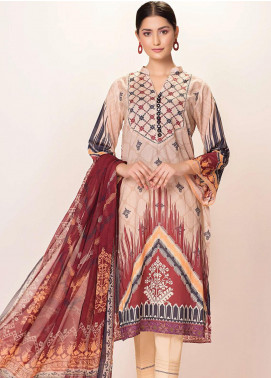 Phulkari by Taana Baana Printed Lawn Unstitched 2 Piece Suit TB20EF 1479AT - Eid Collection