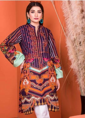 Plush by Riaz Arts Embroidered Khaddar Unstitched Kurties RA20KD 31 - Winter Collection
