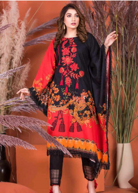 Plush by Riaz Arts Embroidered Khaddar Unstitched Kurties RA20KD 34 - Winter Collection