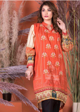 Plush by Riaz Arts Embroidered Khaddar Unstitched Kurties RA20KD 39 - Winter Collection