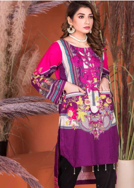 Plush by Riaz Arts Embroidered Khaddar Unstitched Kurties RA20KD 40 - Winter Collection