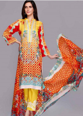 Charizma Embroidered Lawn Unstitched 3 Piece Suit CRZ19PG 8C - Mid Summer Collection