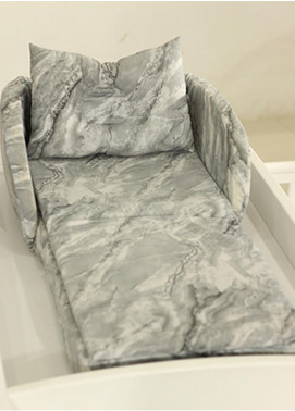 Plush Mink  Cotton Folding Bed 3 Pieces Plush Mink Baby Folding Bed 05 Metal Grey - Baby Products