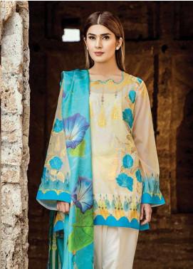 Zehra Saleem Embroidered Lawn Unstitched 3 Piece Suit PN18L 06 - Spring / Summer Collection