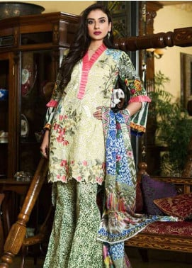 Pehnawa Embroidered Lawn Unstitched 3 Piece Suit PNH18L 02 - Spring / Summer Collection