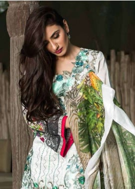 Pehnawa Embroidered Lawn Unstitched 3 Piece Suit PNH18L 04 - Spring / Summer Collection