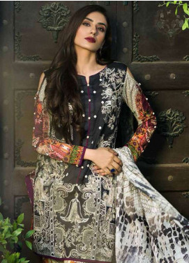 Pehnawa Embroidered Lawn Unstitched 3 Piece Suit PNH18L 05 - Spring / Summer Collection