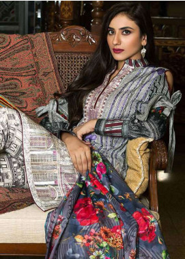 Pehnawa Embroidered Lawn Unstitched 3 Piece Suit PNH18L 08 - Spring / Summer Collection