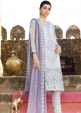 Poshaq-e-Khas by EmbRoyal Embroidered Organza Unstitched 3 Piece Suit IMP20PK 5002 BINAFSHA - Luxury Collection