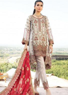 Poshaq-e-Khas by EmbRoyal Embroidered Zari Net Unstitched 3 Piece Suit IMP20PK 5007 NOOR - Luxury Collection
