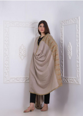 Sanaulla Exclusive Range Embroidered Pashmina Shawl AKP-29 Grey - Pashmina Shawls