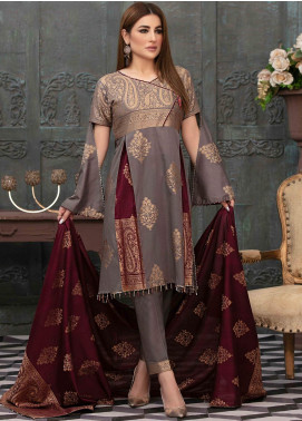 Prestige by Riaz Arts Embroidered Banarsi Unstitched 3 Piece Suit P20RA 22 - Summer Collection