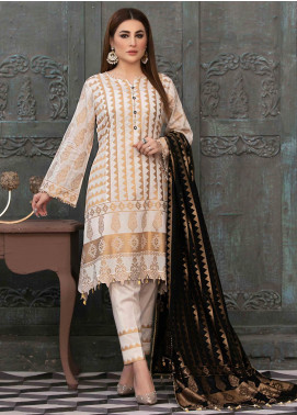 Prestige by Riaz Arts Embroidered Banarsi Unstitched 3 Piece Suit P20RA 24 - Summer Collection