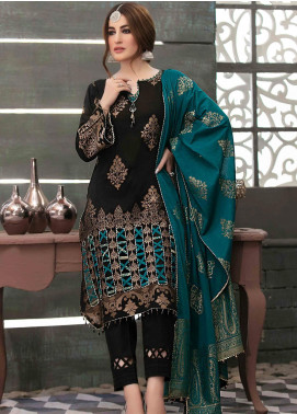 Prestige by Riaz Arts Embroidered Banarsi Unstitched 3 Piece Suit P20RA 30 - Summer Collection