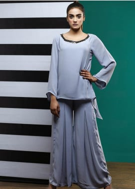Pulsar Casual Style Chiffon Stitched 2 Piece Suit Cresencio