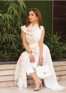 Puri Fabrics Embroidered Lawn Unstitched 3 Piece Suit PF20EM 1 - Spring / Summer Collection