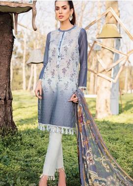 Qalamkar Embroidered Schiffli Unstitched 3 Piece Suit QLM19L 10 - Spring / Summer Collection