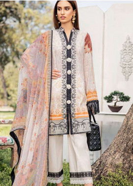 Qalamkar Embroidered Lawn Unstitched 3 Piece Suit QLM19L 11 - Spring / Summer Collection