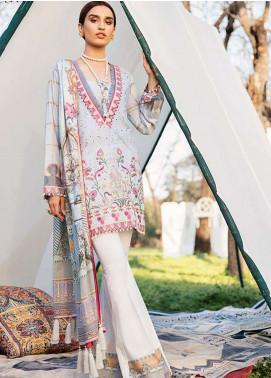 Qalamkar Embroidered Schiffli Unstitched 3 Piece Suit QLM19L 1B - Spring / Summer Collection