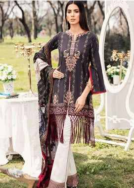 Qalamkar Embroidered Lawn Unstitched 3 Piece Suit QLM19L 2A - Spring / Summer Collection