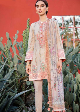 Qalamkar Embroidered Lawn Unstitched 3 Piece Suit QLM19L 2B - Spring / Summer Collection
