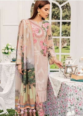 Qalamkar Embroidered Lawn Unstitched 3 Piece Suit QLM19L 3B - Spring / Summer Collection