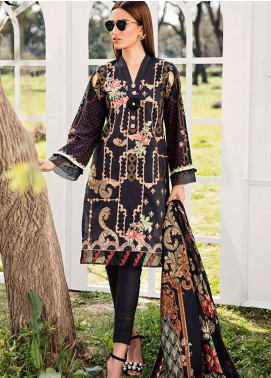Qalamkar Embroidered Lawn Unstitched 3 Piece Suit QLM19L 4A - Spring / Summer Collection