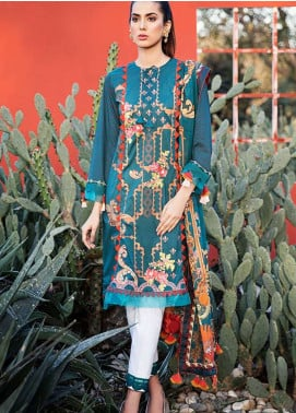 Qalamkar Embroidered Lawn Unstitched 3 Piece Suit QLM19L 4B - Spring / Summer Collection