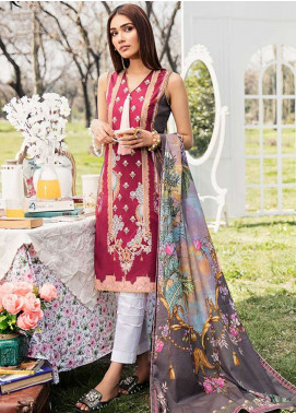 Qalamkar Embroidered Lawn Unstitched 3 Piece Suit QLM19L 5A - Spring / Summer Collection