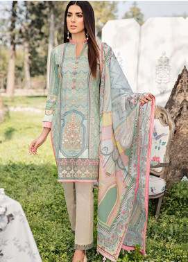 Qalamkar Embroidered Lawn Unstitched 3 Piece Suit QLM19L 6A - Spring / Summer Collection