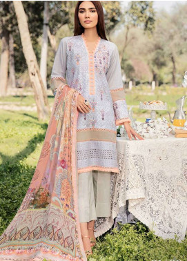 Qalamkar Embroidered Lawn Unstitched 3 Piece Suit QLM19L 9 - Spring / Summer Collection