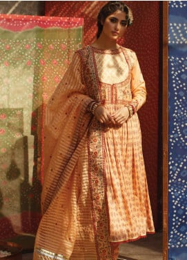 Qalamkar Embroidered Lawn Unstitched 3 Piece Suit QLM20F EC-08 - Luxury Collection