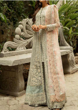 Qalamkar Embroidered Organza Unstitched 3 Piece Suit QLM20LF 02 - Luxury Formal Collection