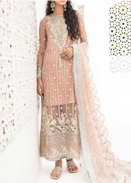 Qalamkar Embroidered Organza Unstitched 3 Piece Suit QLM20LF 05 - Luxury Formal Collection