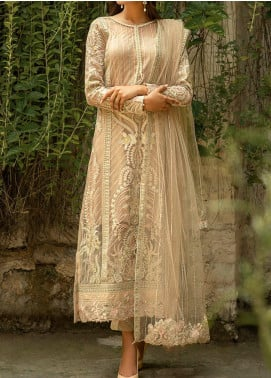 Qalamkar Embroidered Organza Unstitched 3 Piece Suit QLM20LF 08 - Luxury Formal Collection