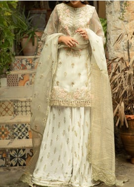 Qalamkar Embroidered Organza Unstitched 3 Piece Suit QLM20LF 09 - Luxury Formal Collection