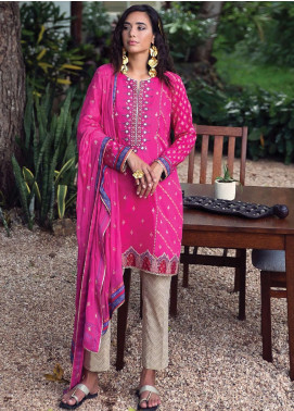 Qalamkar Embroidered Lawn Unstitched 3 Piece Suit QLM20L 11 - Luxury Collection