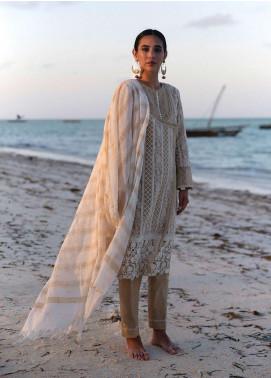 Qalamkar Chikankari Embroidered Lawn Unstitched 3 Piece Suit QLM20L 13 - Luxury Collection