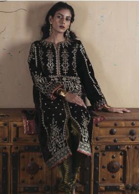 Qalamkar Embroidered Velvet Unstitched 2 Piece Suit QLM19V 04 - Winter Collection