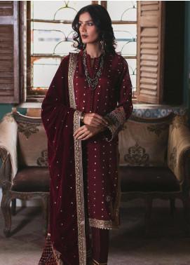 Qalamkar Embroidered Velvet Unstitched 3 Piece Suit QLM19V 06 - Winter Collection